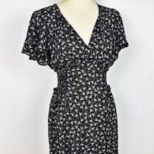 NEW Max Studio Women's Floral Print Midi Dress Flutter Sleeve Size M