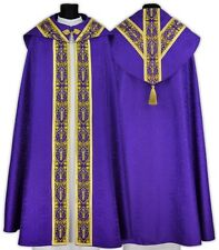 Purple Semi Gothic Cope with stole KY637-F25p Capa pluvial Morada Piviale Viola