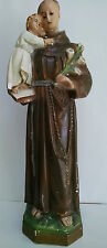 1950's Chalk Statue of Saint Anthony holding Baby Jesus