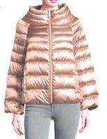 NEW Sam Edelman Blush Satin Funnel Neck Down Coat Lightweight Puffer Jacket sz S