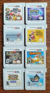 Lot of 8 Nintendo 3DS Games (Super Smash Bros, Pokemon Moon, Mario Kart 7, DBZ)