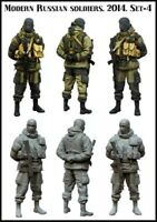 1:35 Resin Figure Model Kit Modern Russian Soldiers Unpainted