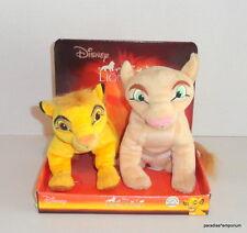 """New Disney Simba & Nala Plush Lot Set Lion King Cubs Applause 7"""" P84"""