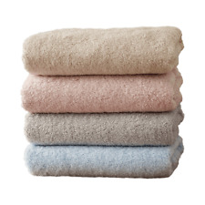 100% Cotton Towel Antibacterial Absorbent Bath Shower Face Washcloth Towels Set