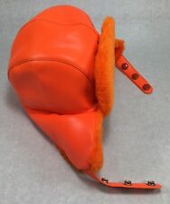 Vintage Hunting Hat Size Large L Orange Ear Flap Elmer Fudd Trapper Cap YR Brand