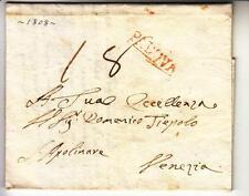 1808 REGNO Napoleonico lettera PADOVA-VENEZIA a Domenico TIEPOLO-Cart.ROSSA-h19