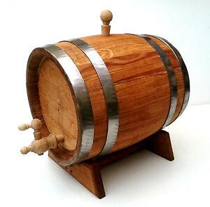 20L Oak Wood Toasted Barrel , Cask with wooden tap & pedestal for aging spirits