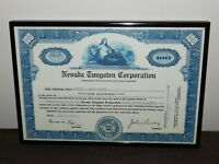 VINTAGE 1952 NEVADA TUNGSTEN CORPORATION NICELY  FRAMED STOCK CERTIFICATE