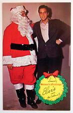 Elvis Presley & Colonel 1960s Season's Greetings Santa Christmas Postcard MINT