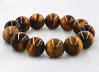 8mm Natural African Roar Natural Tiger's Eye Round Beads bracelet 7.5''