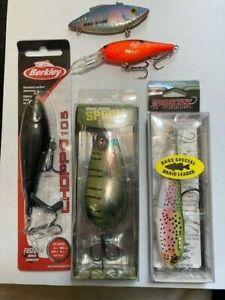 5 New FISHING HARD BAITS Berkley RIVER2SEA Sebile BILL LEWIS FISHING LURE Bundle