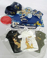 Discontinued Disney Pluto SZ Small Dog Kit Collar Leash Bowl Mat Shirt Lot of 14