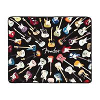 "Fender Guitar Plush Raschel Throw Blanket - 50"" x 60"""