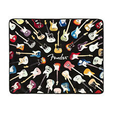 "Fender Guitar Plush Raschel Throw Blanket - 50"" x 60"""