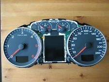 TACHIMETRO Strumento Combinato Audi a3 8p FIS Diesel Vdo Cluster Cabina Di Pilotaggio Tachometer
