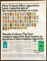 1967 Colony Filter & Menthol Cigarettes Print Ad