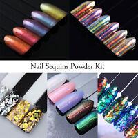 Nail Art Glitter Powder Staub für UV Gel Acryl Sequins Flakes Maniküre Dekor