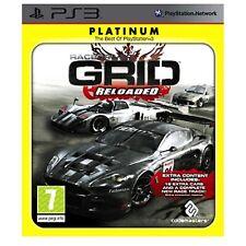 Grid RELOADED Platino PS3 PlayStation 3 Video Juego Perfecto estado UK release