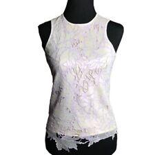 Vivienne Tam Mesh Cutout Top Iridescent Lilac Sleeveless Sz 1 S Vtg 90s Couture