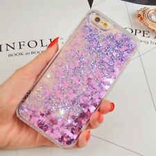 Glitter Bling Moving Stars Liquid Hard Phone Back Case Cover for iPhone 6s 5 8 7 iPhone X Pink - Dot
