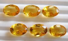 29.70Cts 6 Pcs Loose Citrine Quartz Oval Lot Loose Gemstone Oval 10 X 14 MM H123