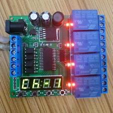 DC 5V 9V 12V 24V 4-Channel Multifunction Delay Time Timer Relay Switch Module