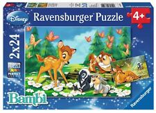 PUZZLE BAMBI DISNEY 2 x 24 Piezas CHILDREN'S PUZZLE JIGSAW RAVENSBURGER 08852