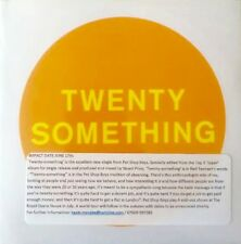 PET SHOP BOYS 'TWENTY SOMETHING' UNPLAYED ONE TRACK CD PROMO AND PRESS STICKER