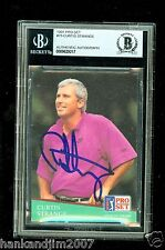 Curtis Strange Autographed 1991 Pro Set Golf Card #75 Beckett Authentic Encased