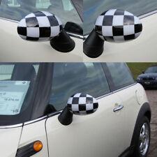 MINI ONE COOPER R55 R56 R57 R58 R59 MIRROR CASING Fairing in Checkered Flag
