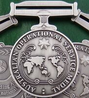 10 X AUSTRALIAN ARMY NAVY AIR FORCE OPERATIONAL SERVICE MEDALS REPLICA