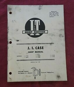 1975 J I CASE 770 870 970 1070 1090 1100 1175 TRACTOR I&T SERVICE REPAIR MANUAL