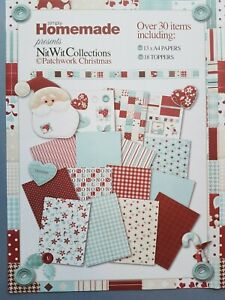 2 x pack of A4 Sheets Christmas Pattern Double Sided Craft Paper - santa snowman