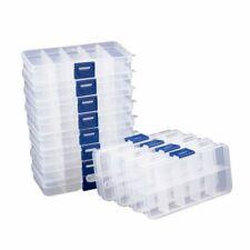 Прозрачная шкатулка для украшений 12 шт. пластиковые бусины контейнер для хранения организатор серьги