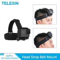 TELESIN Head Strap Mount Headband for GoPro Hero 8 7 6 Osmo Action Xiaoyi SJCAM