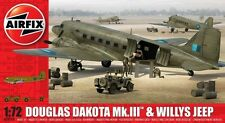 AIRFIX 1:72 KIT AEREO DOUGLAS DAKOTA MK.III & WILLYS JEEP ART 09008 serie 9