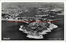 Cornwall Falmouth Aerial View Real Photo Vintage Postcard 16.7