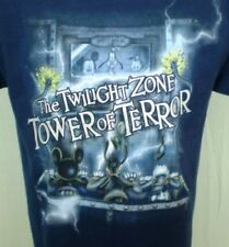 Disney Blue Large TShirt The Twilight Zone Tower of Terror Characters Cotton