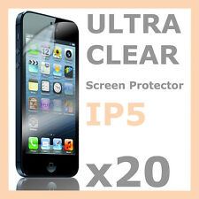 20 x Super Crystal Clear LCD Screen Protector Film Case for Apple iPhone 5S 5C 5