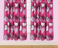 "HELLO KITTY INK CHARACTER CURTAINS 66"" x 54"" CHILDREN / JUNIOR"