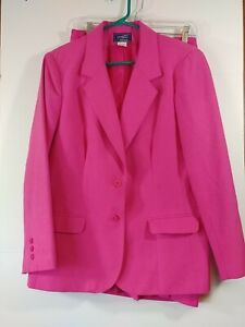 Haberdashery By Personal Women's 2 Pc. Jacket/Skirt Suit, Sz 12, Hot Pink, #3063