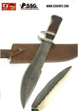 Handmade custom damascus Hunting KNIFE Bowie WITH Real Colour Wood 14 Inches