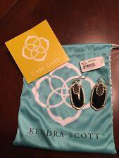 Set NWT Kendra Scott Rayne Necklace & VERY RARE Emmy Black/Gold Galaxy Earrings