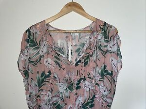 SEAFOLLY PLAYSUIT SIZE S 8-10 Tropical Floral 100% Modal Bikini Bathers Cover Up