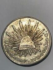 Mexico Guanajuto Silver Coin  1827 Go-MR,  8 Reales with some luster