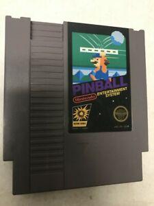 .01 STARTING BID PINBALL NINTENDO ORIGINAL CLASSIC SYSTEM AUTHENTIC GAME NES HQ