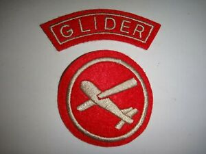 """Set Of US Military GLIDER + Waco CG-4A """"The Flying Coffins"""" Patches"""