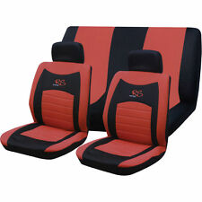 6pc RED RS Racing Car Seat full Cover Set universal covers gift / protection kit