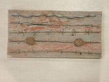 Old Antique Barbed Wire on Barn Board 19