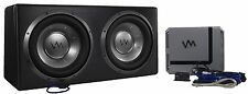 "VM Audio Dual 10"" Elux Sealed 4200 Watt Car Stereo Subwoofer Box with Amp"